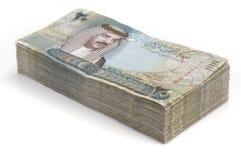 Pilha de dinheiro de Barém Imagens de Stock