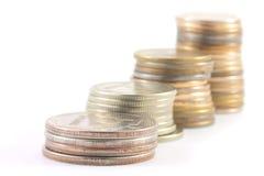 Pilha de dinheiro de metal Imagem de Stock Royalty Free