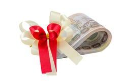 Pilha de dinheiro do baht tailandês imagem de stock