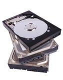 Pilha de disco duros Foto de Stock Royalty Free