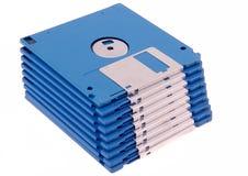 Pilha de discos azuis Fotos de Stock Royalty Free