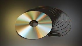 Pilha de discos de CD/DVD ilustração do vetor