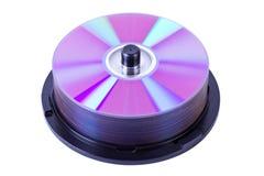 Pilha de discos do Cd ou do dvd imagem de stock royalty free