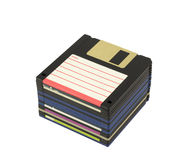 Pilha de discos flexíveis Imagens de Stock Royalty Free