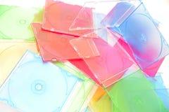 Pilha de discos no fundo branco Foto de Stock