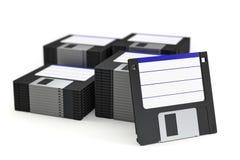 Pilha de disquetes Imagem de Stock