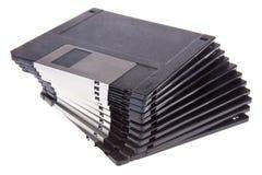 Pilha de disquetes de computador de 3.5 polegadas Imagens de Stock Royalty Free