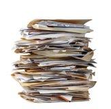 Pilha de dobradores de arquivo Foto de Stock
