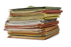 Pilha de dobradores de arquivo cheios Foto de Stock