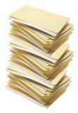 Pilha de dobradores de arquivo de Manila Foto de Stock