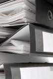 Pilha de dobradores de arquivo pretos Fotografia de Stock Royalty Free