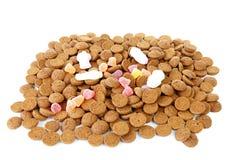 Pilha de doces holandeses típicos: pepernoten Foto de Stock