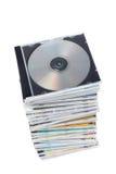 Pilha de dvd e de Cd Imagens de Stock Royalty Free