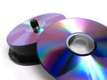 Pilha de DVDs e de Cd Imagem de Stock Royalty Free
