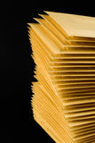 Pilha de envelopes fotografia de stock