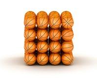 Pilha de esferas do basquetebol Ilustração Stock