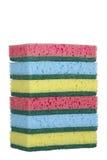Pilha de esponjas Fotografia de Stock