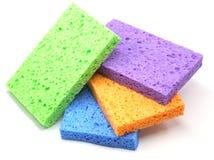 Pilha de esponjas coloridas Foto de Stock