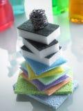 Pilha de esponjas coloridas Fotografia de Stock