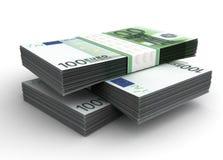 Pilha de euro Fotos de Stock Royalty Free