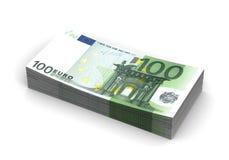 Pilha de euro Fotografia de Stock