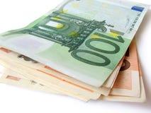 Pilha de euro- contas de dinheiro Fotos de Stock Royalty Free