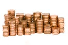 Pilha de euro- moedas do centavo Imagem de Stock Royalty Free