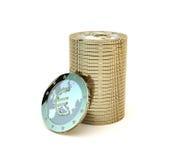 Pilha de euro- moedas estilizados brilhantes Fotos de Stock