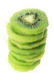 Pilha de fatias da fruta de quivi Imagem de Stock