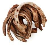 Pilha de ferraduras velhas Imagem de Stock Royalty Free