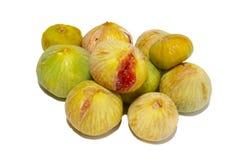 Pilha de figos amarelos. imagens de stock royalty free