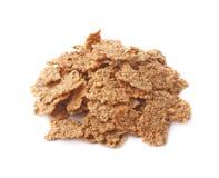 Pilha de flocos inteiros do cereal da grão imagens de stock