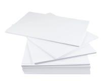 Pilha de folha do Livro Branco do tamanho a4 Foto de Stock