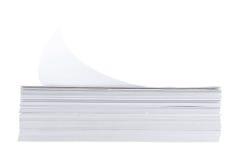 Pilha de folha do Livro Branco do tamanho a4 Fotos de Stock