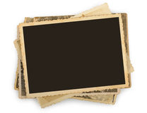 Pilha de fotos velhas isoladas Imagens de Stock Royalty Free