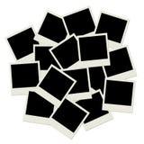 Pilha de frames em branco da foto Imagens de Stock Royalty Free