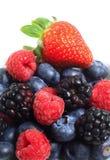 Pilha de frutas de baga Fotografia de Stock