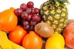 Pilha de frutas tropicais deliciosas Fotos de Stock Royalty Free
