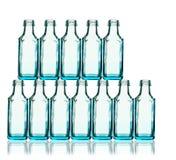 Pilha de garrafas azuis Fotografia de Stock Royalty Free
