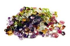 Pilha de gemstones frouxos Imagens de Stock