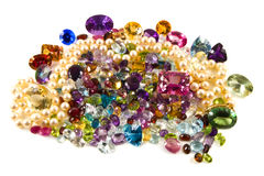 Pilha de gemstones frouxos Imagens de Stock Royalty Free