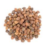 Pilha de grãos-de-bico pretos no fundo branco Fotos de Stock Royalty Free