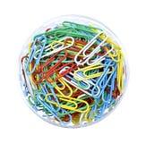 Pilha de grampos coloridos da pasta Imagens de Stock Royalty Free