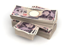 Pilha de iene japonês Fotografia de Stock Royalty Free