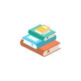 Pilha de ilustração do vetor dos livros Fotografia de Stock