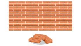 Pilha de ilustração do vetor dos tijolos ilustração stock