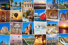 Pilha de imagens do curso de Turquia Imagem de Stock Royalty Free