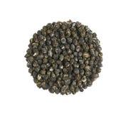 Pilha de Jasmine Dragon Pearl Flower Tea imagem de stock royalty free