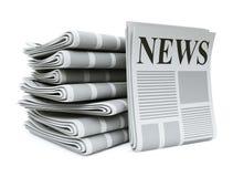 Pilha de jornais ilustração do vetor