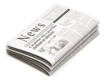 Pilha de jornais ilustração stock